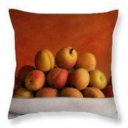 apricot delight Throw Pillow by Priska Wettstein