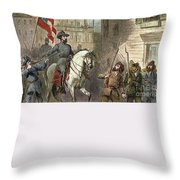 Barbara Frietschie Throw Pillow by Granger