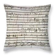 Beethoven Manuscript Throw Pillow by Granger