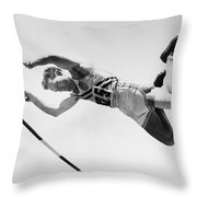 Bob Richards (1926- ) Throw Pillow by Granger