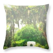 Bonaventure Cemetery Savannah Ga Throw Pillow by William Dey