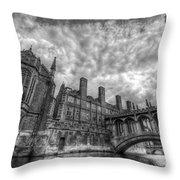 Bridge Of Sighs - Cambridge Throw Pillow by Yhun Suarez