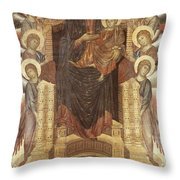Cimabue: Madonna Throw Pillow by Granger