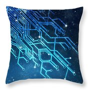 circuit board technology Throw Pillow by Setsiri Silapasuwanchai