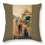 Columbia Bicycles Poster Throw Pillow by Granger