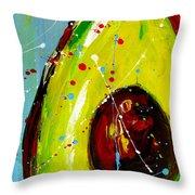 Crazy Avocado Throw Pillow by Patricia Awapara