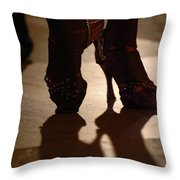 Dancing Shoes Throw Pillow by Anahi DeCanio