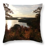 Dawn At Algonquin Park Canada Throw Pillow by Oleksiy Maksymenko