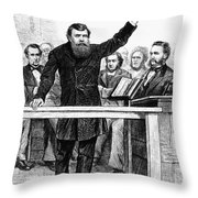 Dwight Lyman Moody Throw Pillow by Granger