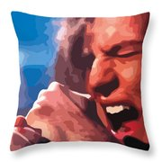 Eddie Vedder Throw Pillow by Gordon Dean II