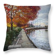 Fall In Port Credit On Throw Pillow by Ylli Haruni