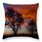 Fire in the Sky Throw Pillow by Peter Piatt