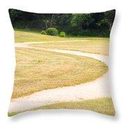 Following Buddha Throw Pillow by Sophie De Roumanie