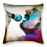 Freddie Mercury Throw Pillow by Mark Ashkenazi