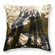 Friends Throw Pillow by Julie Niemela