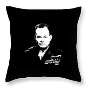 General Lewis Chesty Puller Throw Pillow by War Is Hell Store