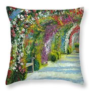 Germany Baden-baden Rosengarten Throw Pillow by Yuriy  Shevchuk