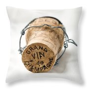 Grand Vin De Champagne Throw Pillow by Frank Tschakert
