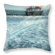 Harbor Light Throw Pillow by Doug Kreuger
