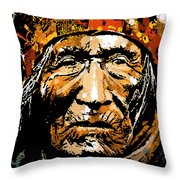 He Dog Throw Pillow by Paul Sachtleben