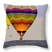 Hot-air Balloning Throw Pillow by Heiko Koehrer-Wagner