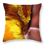 Hula Dancers Throw Pillow by Nadine Rippelmeyer