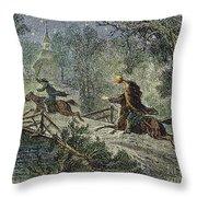 Irving: Sleepy Hollow Throw Pillow by Granger