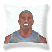 Jason Richardson Throw Pillow by Toni Jaso