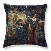 Joan Of Arc C1412-1431 Throw Pillow by Granger