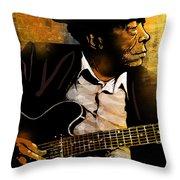 John Lee Hooker Throw Pillow by Paul Sachtleben