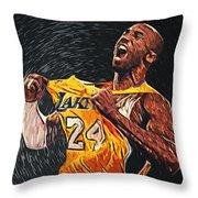 Kobe Bryant Throw Pillow by Taylan Soyturk