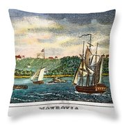 Liberia: Freed Slaves 1832 Throw Pillow by Granger