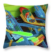 License To Chill Throw Pillow by Debbi Granruth