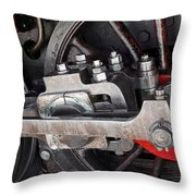 Locomotive Wheel Throw Pillow by Carlos Caetano