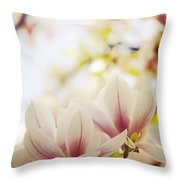 Magnolia Throw Pillow by Jelena Jovanovic