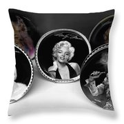 Marilyn And Elvis Throw Pillow by Daniel Hagerman