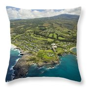 Maui Aerial Of Kapalua Throw Pillow by Ron Dahlquist - Printscapes