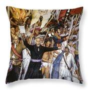 Mexico: 1810 Revolution Throw Pillow by Granger