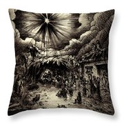 Night In Bethlehem Throw Pillow by Rachel Christine Nowicki
