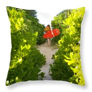 On Vacation Throw Pillow by Dana Edmunds - Printscapes