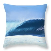 Perfect Wave At Pipeline Throw Pillow by Vince Cavataio - Printscapes