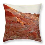 Petrified Fire Throw Pillow by Christine Till