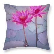 Pink Lily Blossom Throw Pillow by Ron Dahlquist - Printscapes