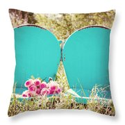 Pink Roses  Throw Pillow by Kim Fearheiley