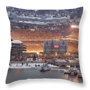 Pittsburgh 4 Throw Pillow by Emmanuel Panagiotakis