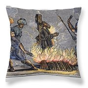 Polycarp Of Smyrna Throw Pillow by Granger