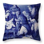 Portuguese Azulejo Tiles Throw Pillow by Gaspar Avila