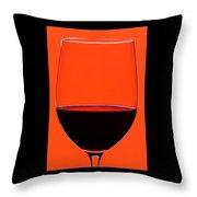 Red Wine Glass Throw Pillow by Frank Tschakert