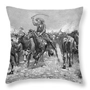 Remington: Cowboys, 1888 Throw Pillow by Granger