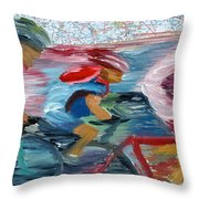 Riding The Roads Throw Pillow by Michael Lee